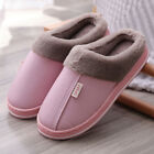 Winter Mens Womens Slippers Indoor Outdoor Mules Plush Lined Warm House Shoes UK