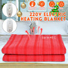 110V 150x65cm Single Electric Heated Blanket Rapid Heating 3 Gear Controller USA image