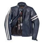 Dainese Freccia72 Blue Leather Retro Jacket Motorcycle Jacket New