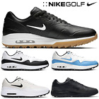 NIKE GOLF SHOES MENS GOLF SHOES NIKE AIR MAX 1G GOLF SHOES BLACK NEW ALL SIZES