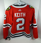 New Mens Chicago Blackhawks Duncan Keith 2 Authentic Adidas Red Jersey XXS 42
