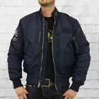 Alpha Industries Engine Männer MA1 Piloten Jacke blau Bomberjacke Men rep blue tweedehands  verschepen naar Netherlands