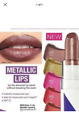 BRAND NEW SEALED AVON COLOR TREND METALLIC LIPSTICKS...VARIOUS SHADES