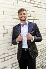 Mardi Gras Fleur de Lis Slim Fit Party Jacket