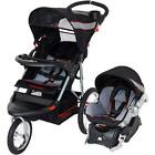 Baby Trend Jogger Stroller Travel System Car Seat Harness Canopy Toddler Infant