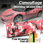 Orange Black Gray Camouflage Camo Vinyl Sticker Wrap Decal Film Air Release