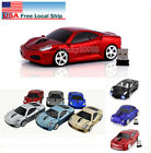 Xmas Gift Cordless 2.4Ghz Wireless Optical Car Mouse PC Laptop Mice USB Dongle