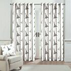 Printed Blackout Curtains 100% Cotton 200 Thread Count Eyelet Ring Top Curtain