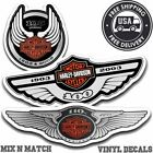 Harley Davidson 100th 105th 110th Anniversary Helmet Tank Sticker Decals NEW $6.95 USD on eBay