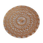 FJ- 38cm Nordic Round Hollow Heat Insulated Cup Pad Dinning Table Placemat Suppl