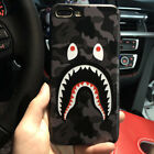 Fashion Camouflage Shark Mouth Cartoon Protective Phone Case For iPhone RSDO