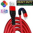 USB to USB C Type C Charging Cable Braided Fast Charge Charger Extension Lead
