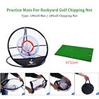 Indoor Outdoor Foldable Pitching Cages Beginners Practice Mats Golf Chipping Net