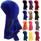 US Unisex Men Women Velvet Breathable Hat Bandana Turban Cap Durag Headwear