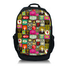 Leopard Print Canvas Backpack College School Book Backpack Travel Bag Rucksack
