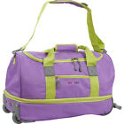 """J World New York Stadium 21"""" Rolling Duffel - Orchid Softside Carry-On NEW"""