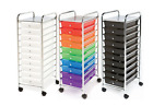 Seville Classics 10-Drawer Organizer Cart with Drawers, Colorful, Clear or Black