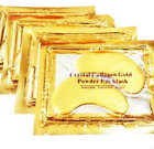 10 Pcs Crystal Collagen 24k Gold Under Eye Gel Pad Face Mask Anti Aging Wrinkle