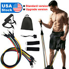 11 pieces Resistance Trainer Set Exercise Fitness Tube Gym Workout Band In USA image