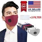 Kyпить Cotton Face Mask Washable Reusable With 2 Activated Carbon Filter USA Seller  на еВаy.соm