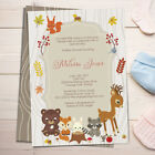 Woodland Animals Baby Shower Invitation - Printable or Printed -