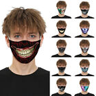 Kyпить 3D Printed Face Mask Fun Face Cover Washable&Reusable Outdoor Protection Unisex на еВаy.соm