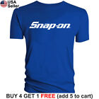 Snap-On T-Shirt Tools Mechanic Shop Auto Parts Racing Van Repair Power Car Men