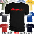 Snap-On T-Shirt Tools Mechanic Shop Auto Parts Racing Van Repair Power Car Men image