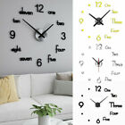 Modern 3D DIY Wall Clock Self Adhesive Mirror Surface Sticker Clocks Art Decor