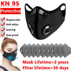 Reusable Sport Face Mouth Mask / Activated Carbon Filters Pads / Breathing Valve