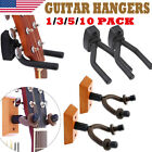 Kyпить 1/2/3/5/10 PACK Guitar Wall Mounted Hanger Holder Wooden Stand Padded Display на еВаy.соm