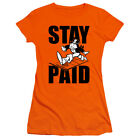 Monopoly - Stay Paid Evergreen - Juniors T-Shirt