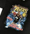 Vintage Philadelphia 76ers Allen Iverson T-Shirt Short Sleeve GILDAN REPRINT on eBay