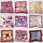 Women Ladies Vintage Silk Feel Satin Square Scarf Head Neck Hair Tie Band