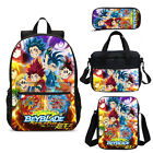 Anime Beyblade Backpack Set Cooler Lunch Bags Sling Bag Pen Case Kids Gifts Lot