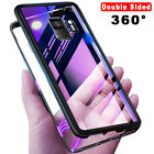 9H Tempered Double Glass Magnetic Case Flip Cover For Samsung Galaxy S20 Note 10