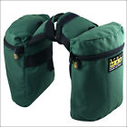 OUTFITTERS SUPPLY HORSE RIDER TRAILMAX ORIGINAL POMMEL HORN SADDLE BAGS GREEN U-