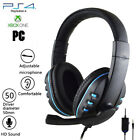 'Gaming Headset For Xbox One Ps4 Nintendo Switch & Pc 3.5mm Headphones Stereo Mic