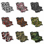 Green Colorful Camouflage Pet Car Seat Cover With Harnesses Rear Protector Mats