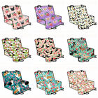 Floral Dog Design Pet Rear Car Seat Cover Heavy Duty Scratch Proof Protector Mat