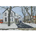 Streetscape Wall Art for Living Room Paintings On Canvas Original Oil Paintings