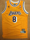 NWT #8 Kobe Bryant Los Angeles Lakers Men's Throwback GOLD Stitched Jersey