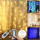 3X3M 300LED Curtain Fairy String Light Wedding Background Party In/Outdoor Decor