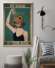 Woman Pot Head Water Flowers Be Kind To Your Mind Wall Art Poster No Frame