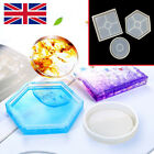 Hexagon Coaster Resin Casting Mold Silicone Jewelry Pendant Making Mould Craft✈️