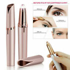 Women's Painless Electric Eyebrow Hair Remover Brows Trimmer Epilator White&Pink