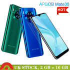 "Mate 30 Android 16gb 6.3"" Mobile Phone Unlocked 4 Core 2 Sim Cheap Smartphone Uk"