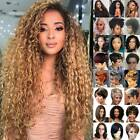 Women Ombre Natural Long Short Curly Full Wig Hair Ladies Afro Wavy Cosplay Wigs