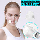 Reusable Transparent Mask With 10x Filters Respirator Valve Visible Mouth Masks