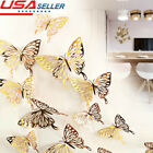 12pcs 24pcs 3d Butterfly Wall Stickers Art Decals Home Room Decorations Decor Us